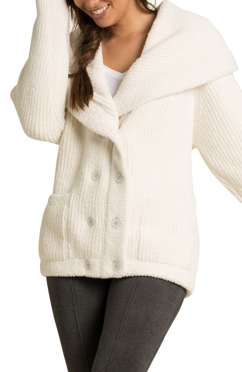 BAREFOOT DREAMS<SUP>®</SUP> CozyChic<sup>™</sup> Double Breasted Cardigan, Main, color, CREAM