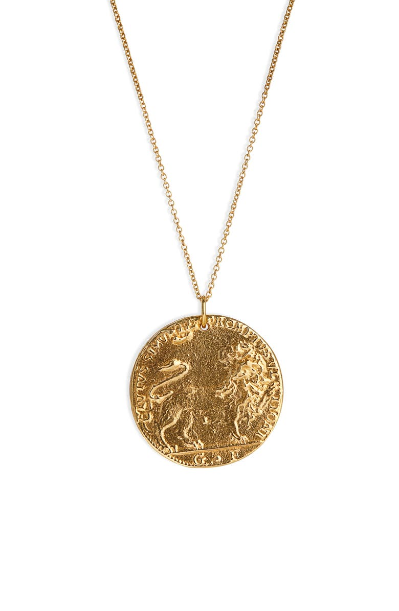 ALIGHIERI Il Leone Medallion Necklace, Main, color, 710