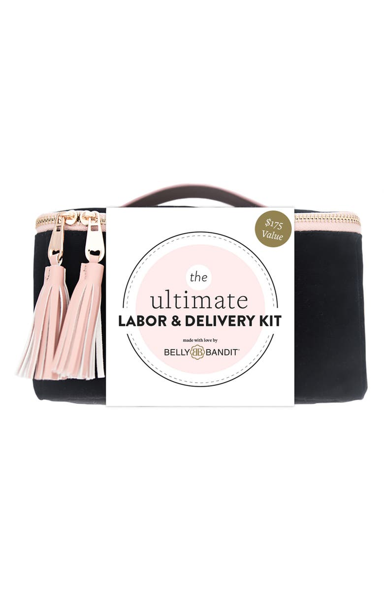 BELLY BANDIT<SUP>®</SUP> Ultimate Labor & Delivery Kit, Main, color, BLACK/ PINK