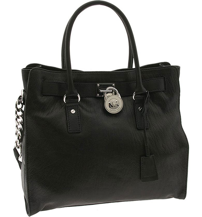 MICHAEL MICHAEL KORS 'Hamilton Chain - Large' Vertical Tote, Main, color, 001
