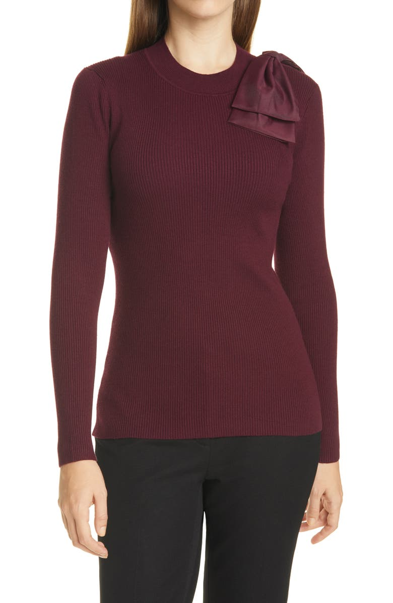 TED BAKER LONDON Ambher Mock Neck Sweater, Main, color, 930