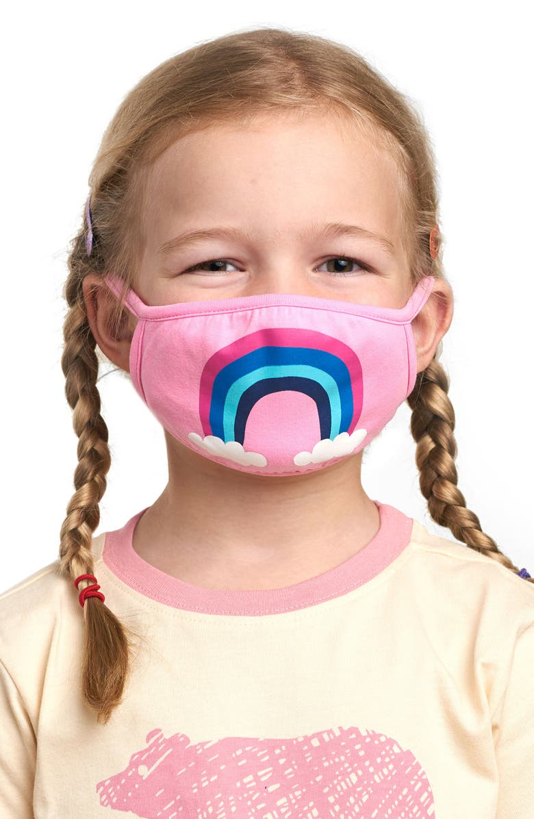 HATLEY Rainbow Youth Reusable Face Mask, Main, color, Pink