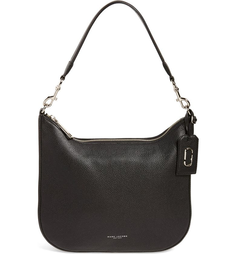 MARC JACOBS 'Gotham' Pebbled Leather Hobo Bag, Main, color, 001