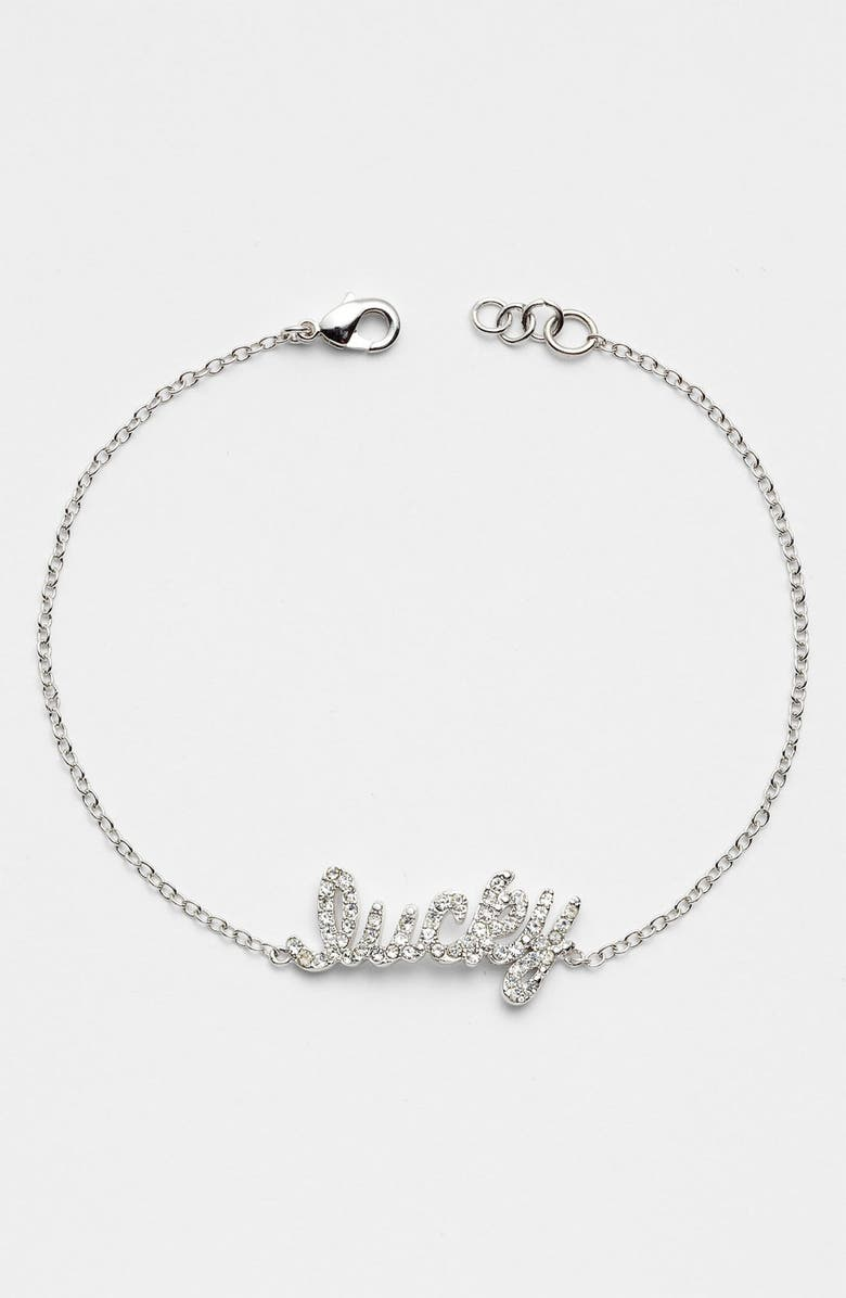 ARIELLA COLLECTION 'Messages - Wish' Script Station Bracelet, Main, color, 040