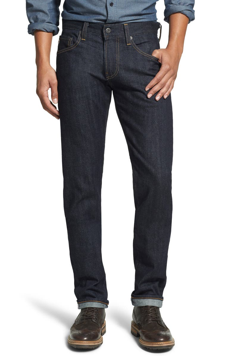AG Tellis Slim Fit Jeans, Main, color, ALPHA
