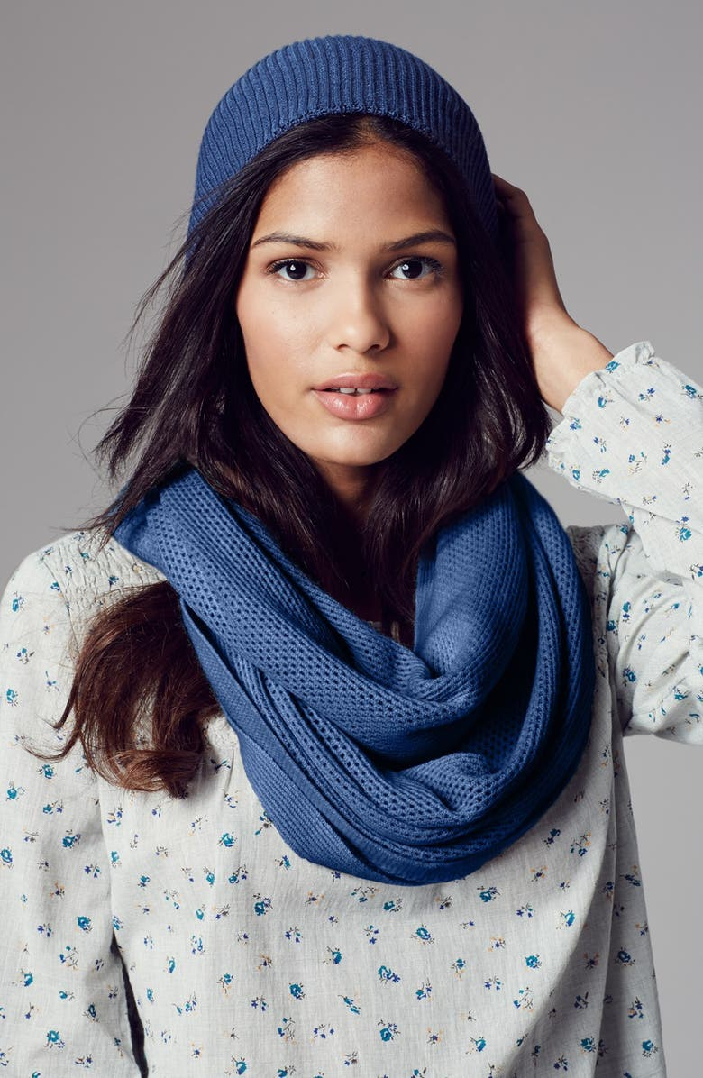 COLLECTION XIIX Knit Infinity Scarf, Main, color, COOL MINT