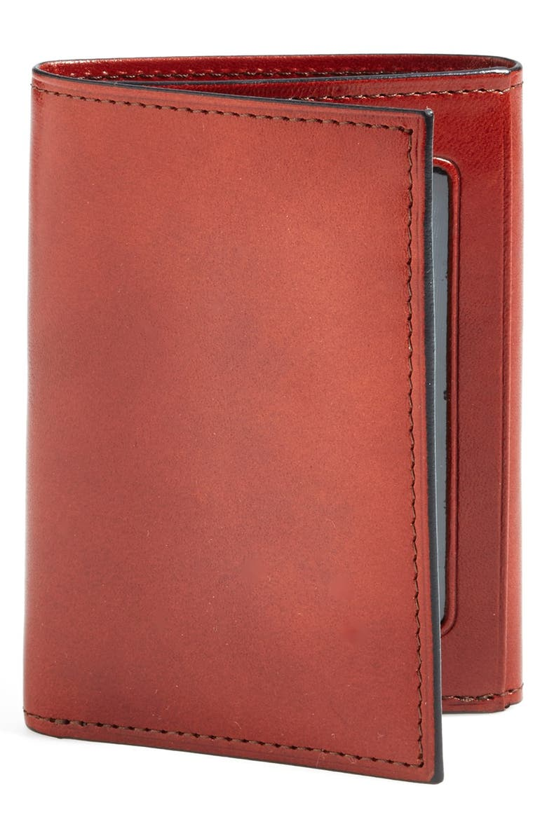 BOSCA 'Old Leather' Trifold Wallet, Main, color, COGNAC