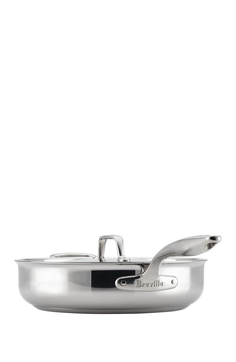 BREVILLE Thermo Pro Clad 5 Quart Covered Saute Pan, Main, color, CLAD STAINLESS STEEL