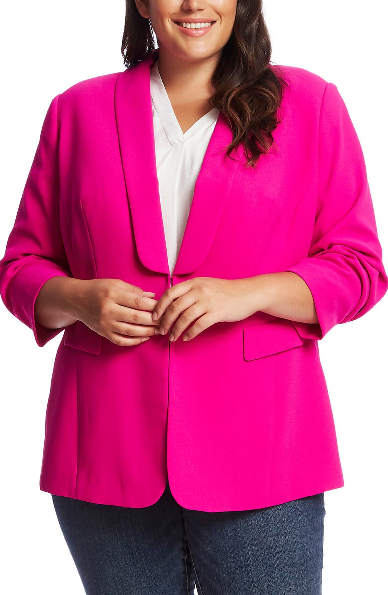VINCE CAMUTO Moss Crepe Blazer, Main, color, 678