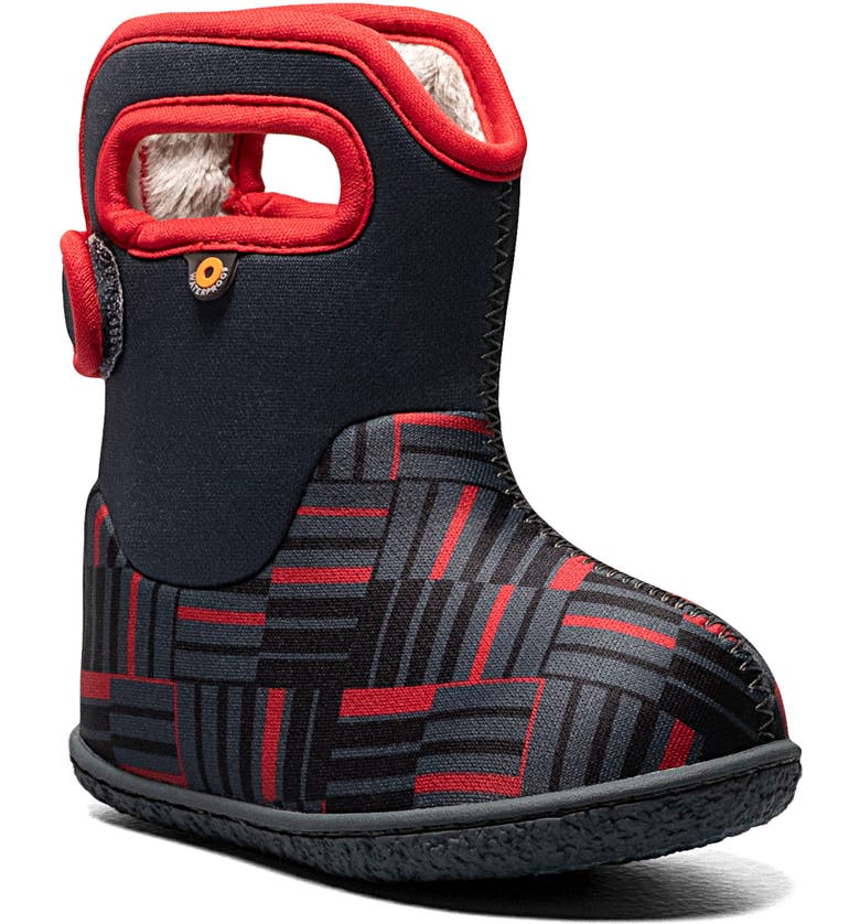 BOGS Baby Bogs Phaser II Print Insulated Waterproof Boot, Main, color, DARK GRAY MULTI