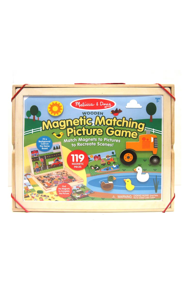 MELISSA & DOUG Wooden Magnetic Matching Picture Game Play Set, Main, color, MULTICOLORED