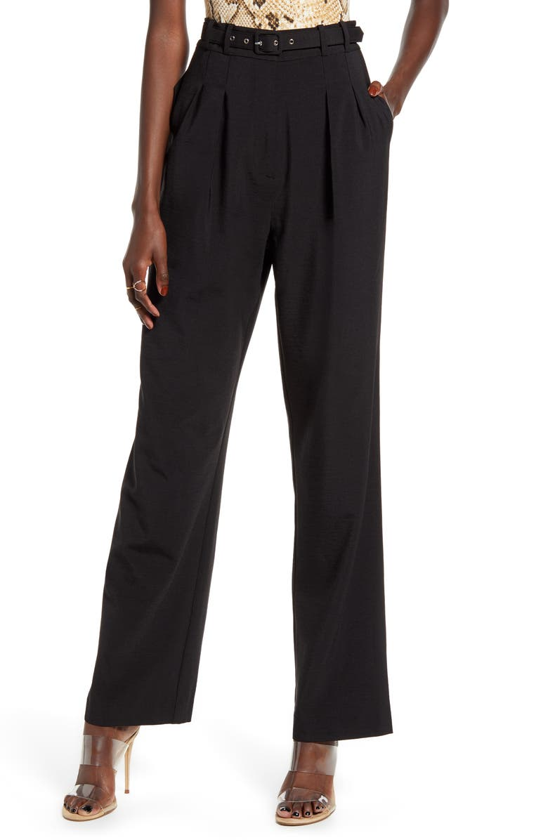 WAYF Belted Trousers, Main, color, 001