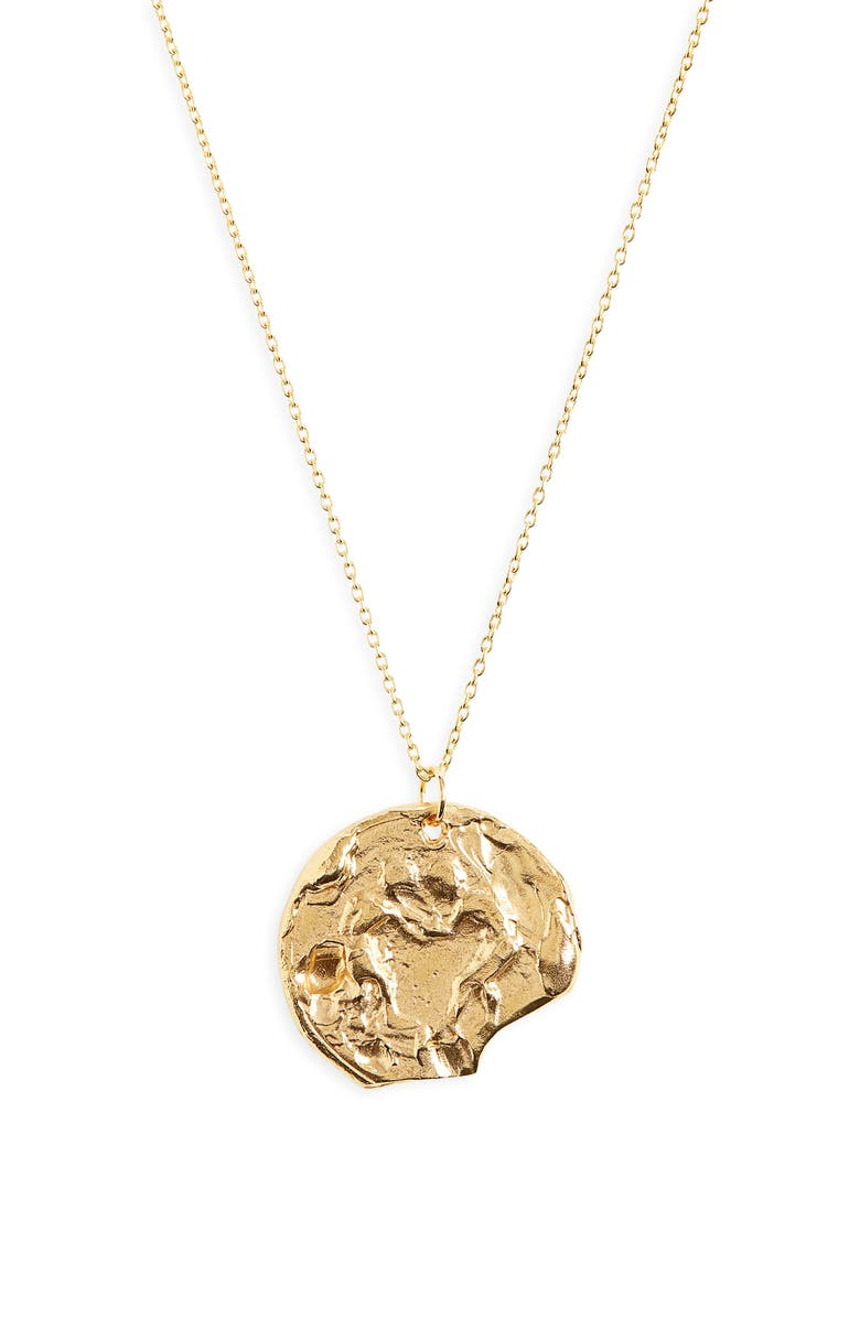 ALIGHIERI The Kindred Soul Medallion Necklace, Main, color, GOLD