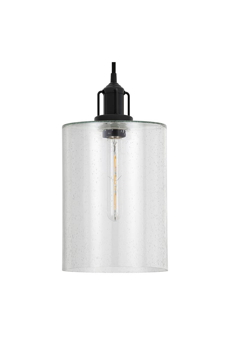 ADDISON AND LANE Nora Pendant in Seeded Glass & Blackened Bronze, Main, color, BLACK
