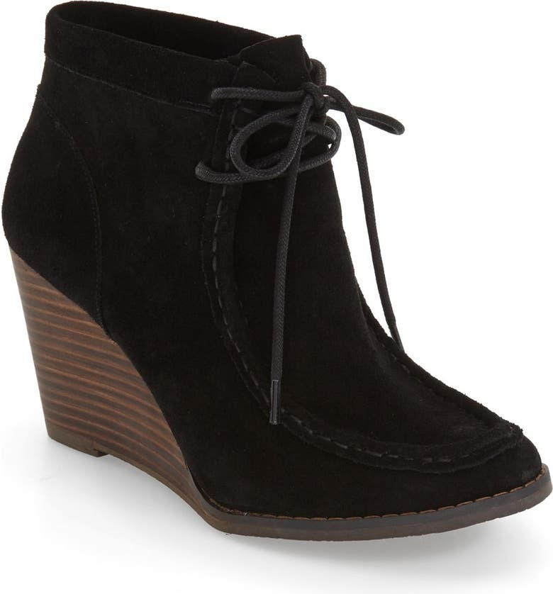LUCKY BRAND 'Ysabel' Wedge Chukka Boot, Main, color, 001