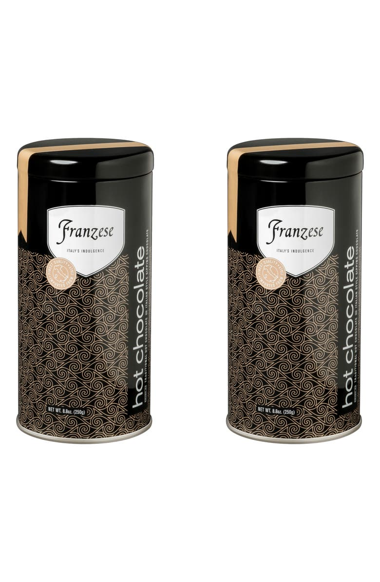 FRANZESE Hot Chocolate Mix Gift Pack, Main, color, BLACK TIN