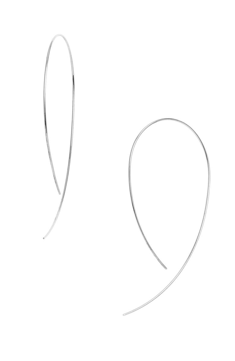 LANA JEWELRY 'Hooked on Hoop' Earrings, Main, color, WHITE GOLD