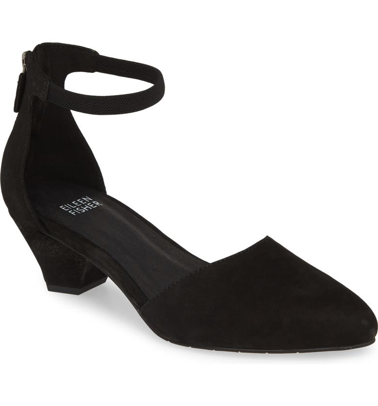 EILEEN FISHER Just Open Sided Pump, Main, color, 001