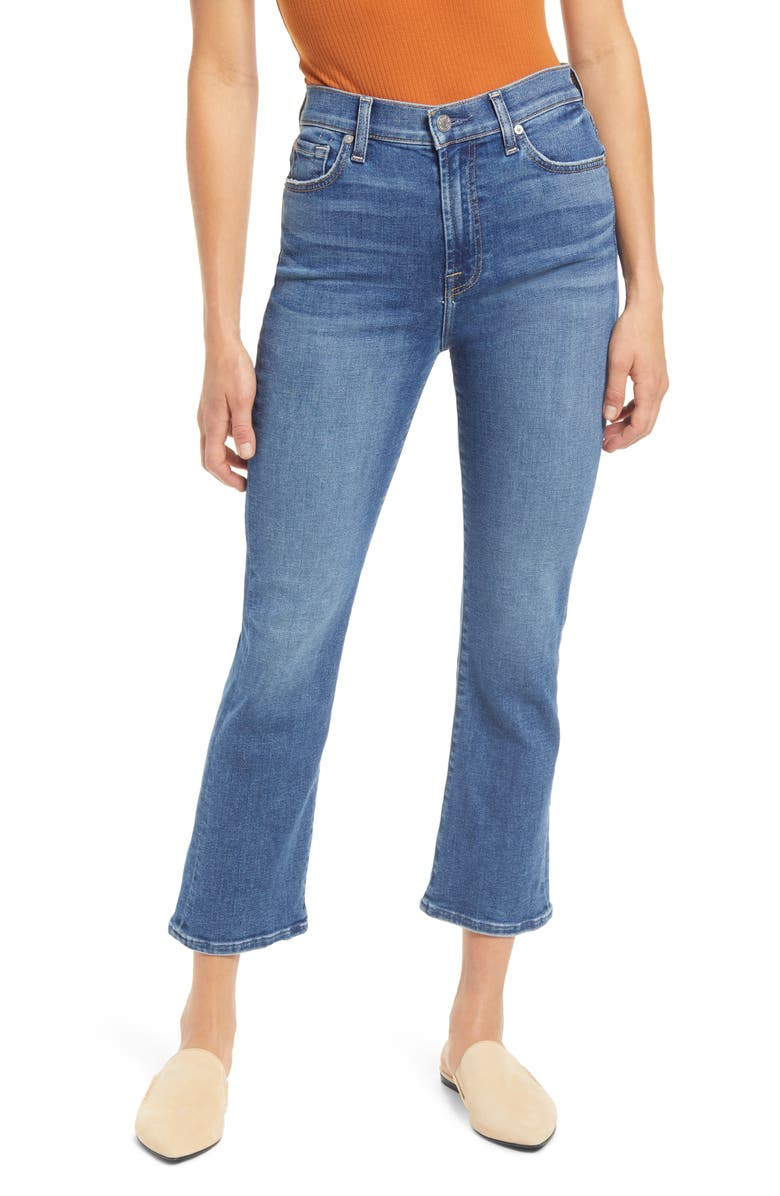 7 FOR ALL MANKIND High Waist Slim Kick Jeans, Main, color, COURT ST