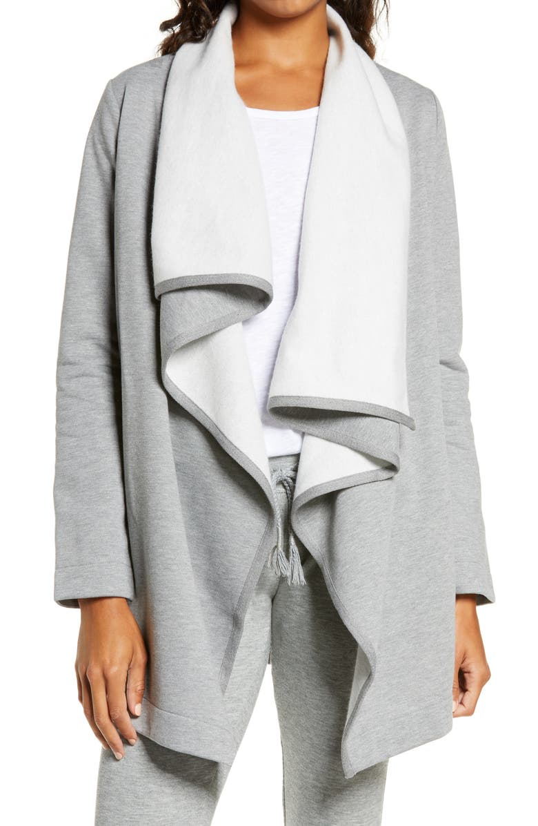 UGG<SUP>®</SUP> Janni Open Front Cardigan, Main, color, GREY HEATHER