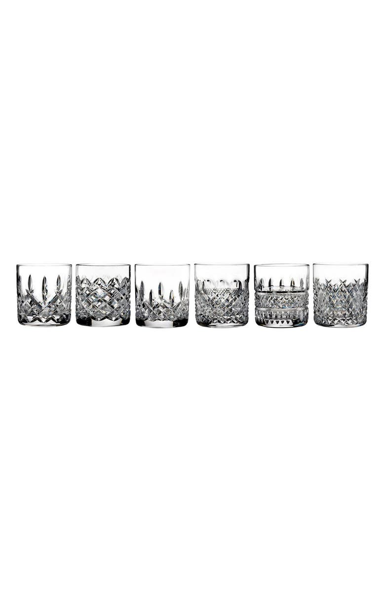 WATERFORD Lismore Connoisseur Heritage Set of 6 Straight Sided Lead Crystal Tumblers, Main, color, 100