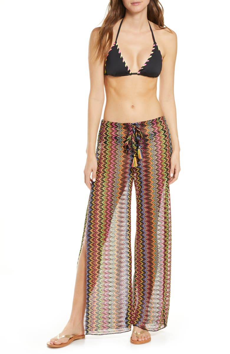 BECCA Carnavale Cover-Up Pants, Main, color, MULTI