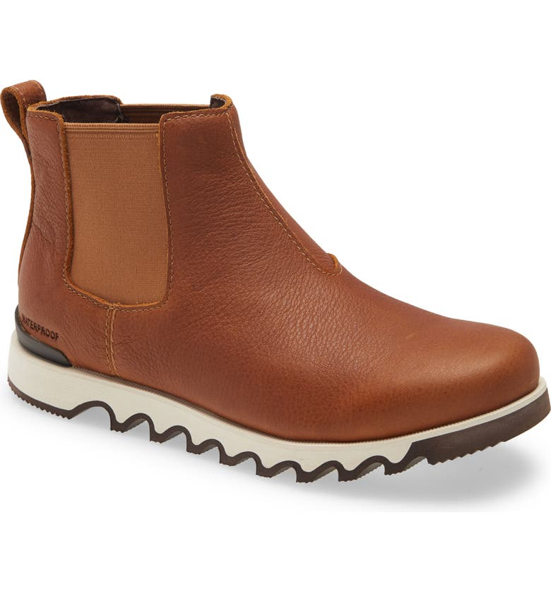 SOREL Kezar Waterproof Chelsea Boot, Main, color, BROWN