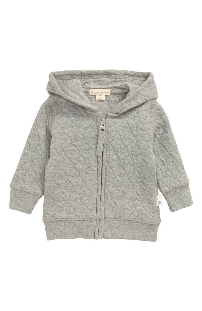 BURT'S BEES BABY Quilted Organic Cotton Jacket, Main, color, HEATHER GREY