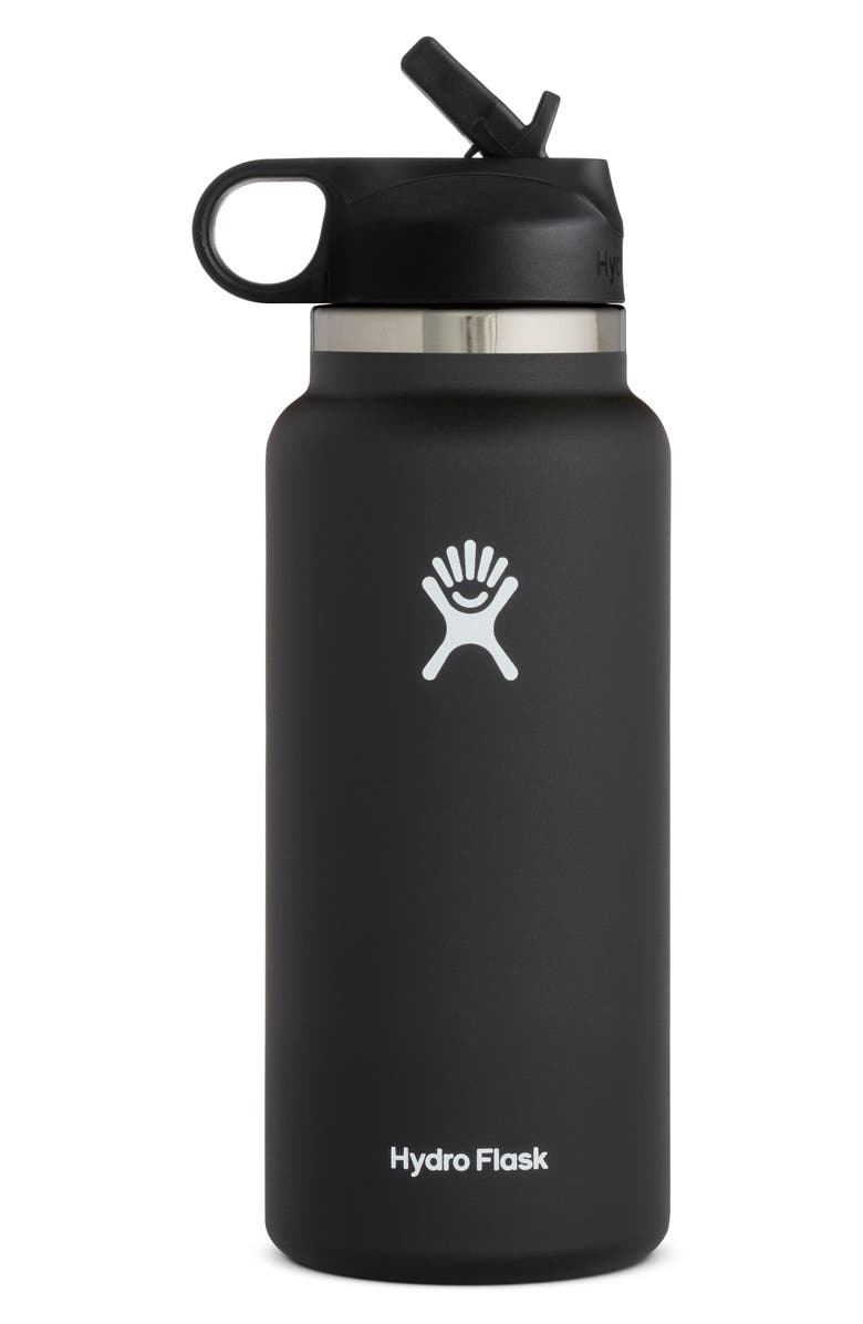 HYDRO FLASK 32-Ounce Wide Mouth Bottle with Straw Lid, Main, color, 001