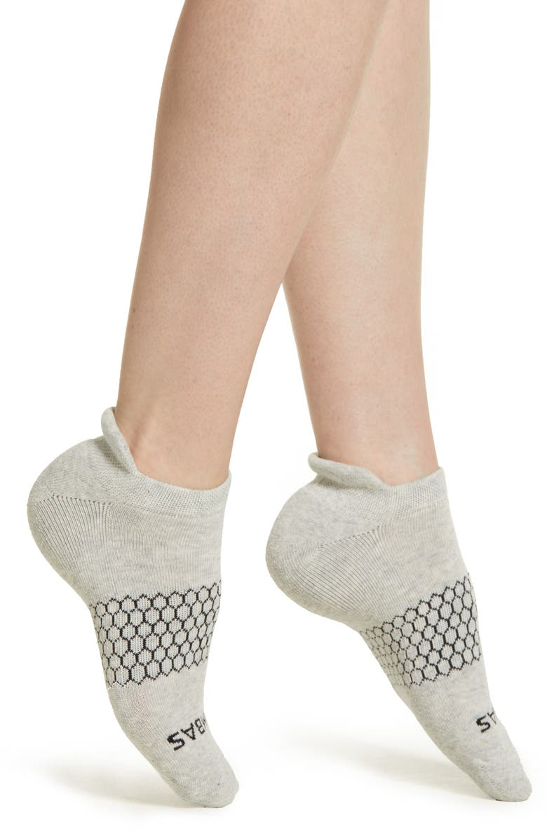 BOMBAS Solid Ankle Socks, Main, color, GREY