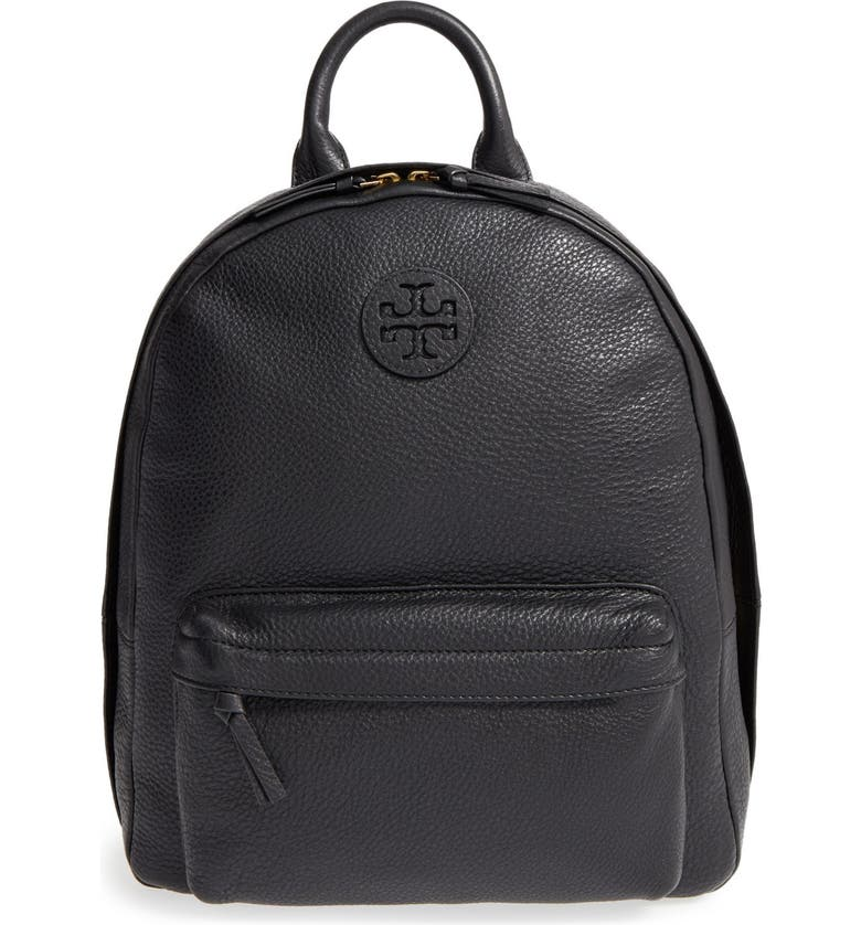 TORY BURCH Pebbled Leather Backpack, Main, color, 012