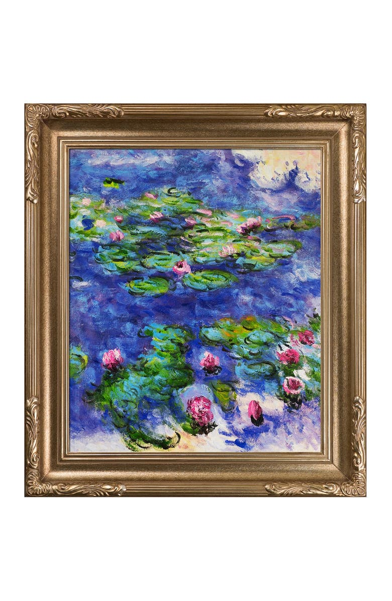 OVERSTOCK ART Water Lilies Framed Oil Reproduction of an Original Painting by Claude Monet, Main, color, MULTI