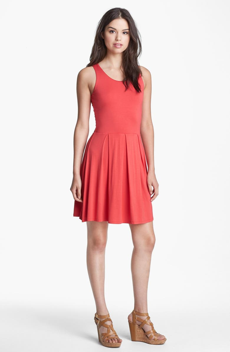 FELICITY & COCO Jersey Skater Dress, Main, color, CORAL