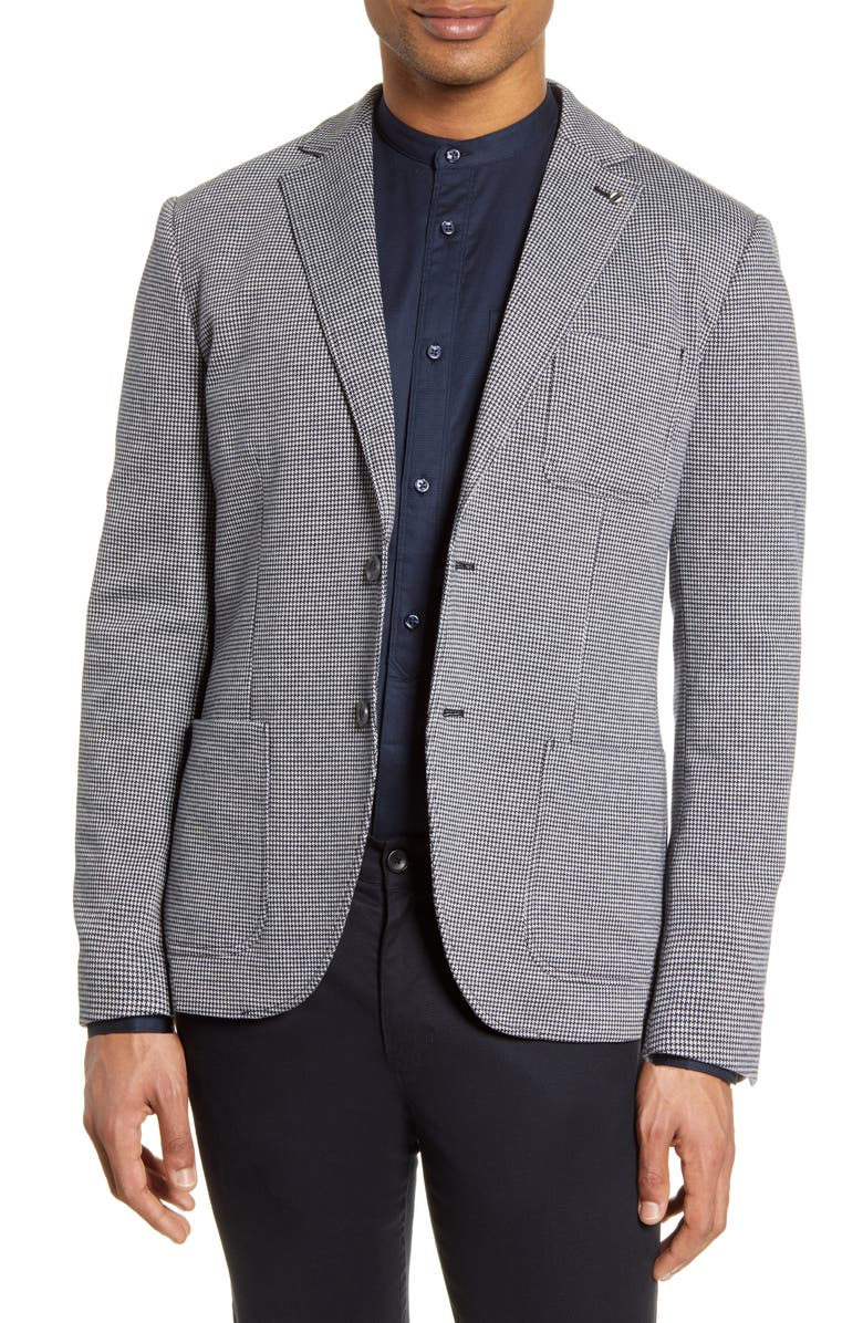 SELECTED HOMME Hank Slim Fit Mini Houndstooth Sport Coat, Main, color, 100