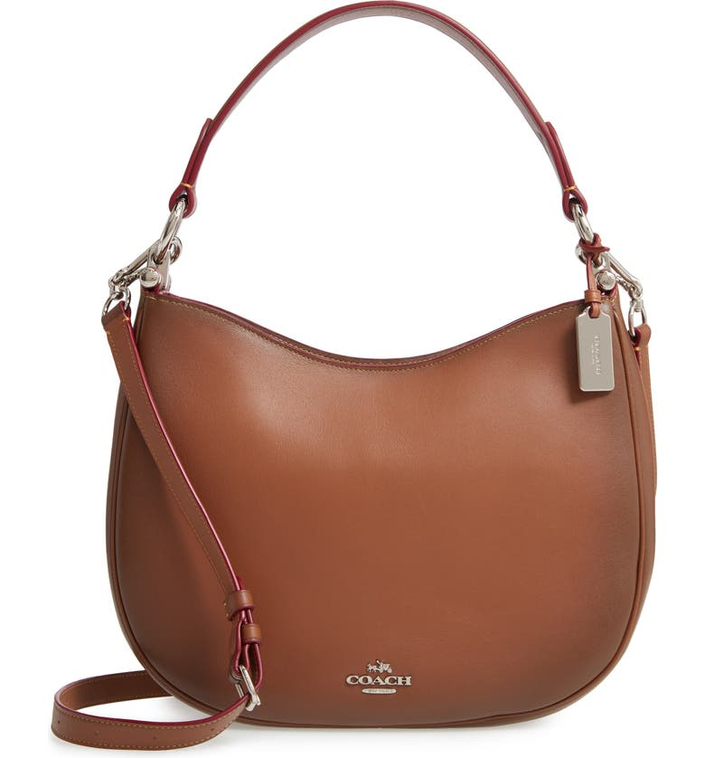 COACH Nomad Burnished Leather Crossbody Bag, Main, color, 200