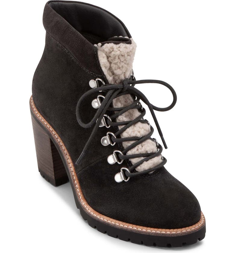 DOLCE VITA Post Faux Shearling Trimmed Hiking Boot, Main, color, 053