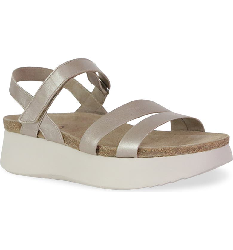 MUNRO Juniper Sandal, Main, color, TAUPE METALLIC