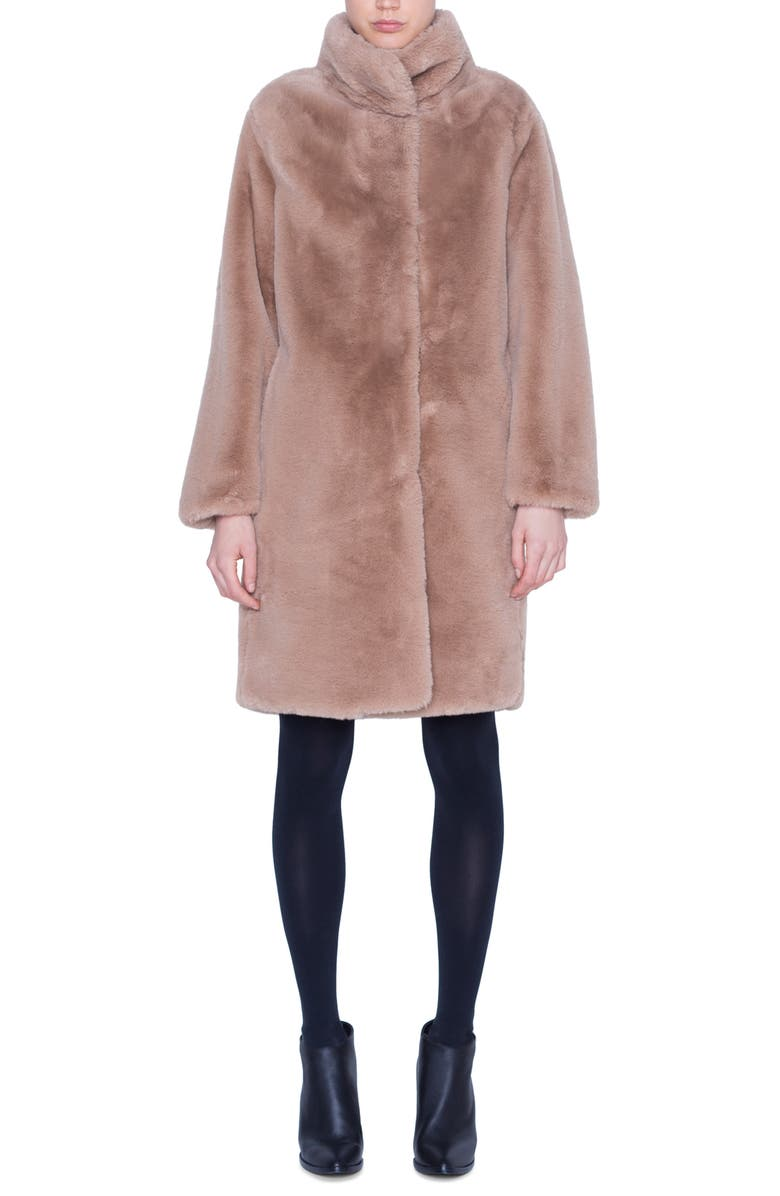 AKRIS PUNTO Faux Fur Coat, Main, color, 250