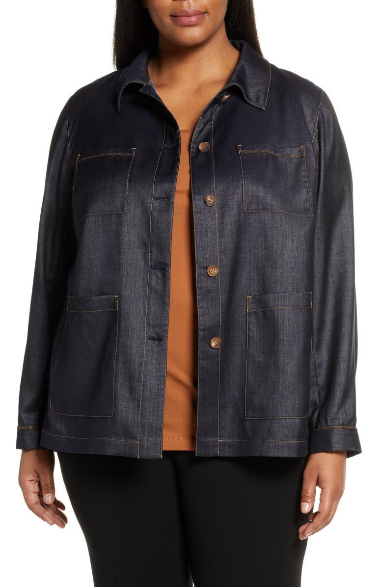 LAFAYETTE 148 NEW YORK Esmeralda Mercantile Cloth Jacket, Main, color, 407