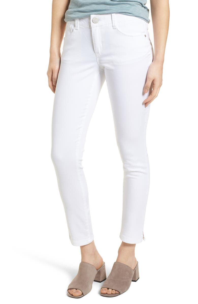 WIT & WISDOM Ab-Solution Ankle Skimmer Jeans, Main, color, OPTIC WHITE