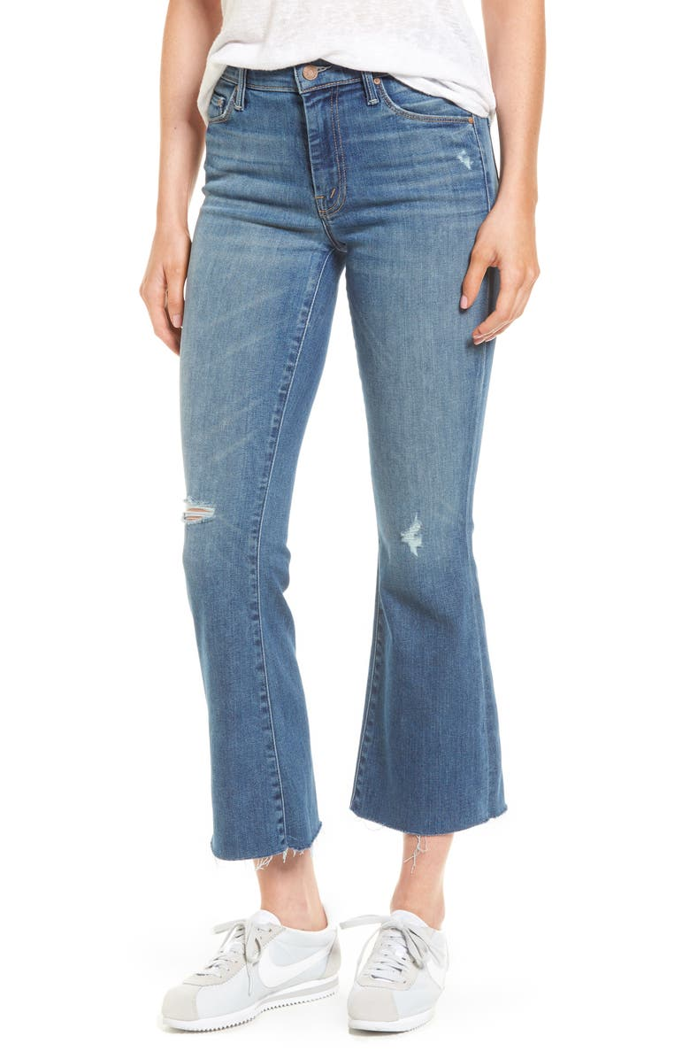 MOTHER Frayed Ankle Jeans, Main, color, 420