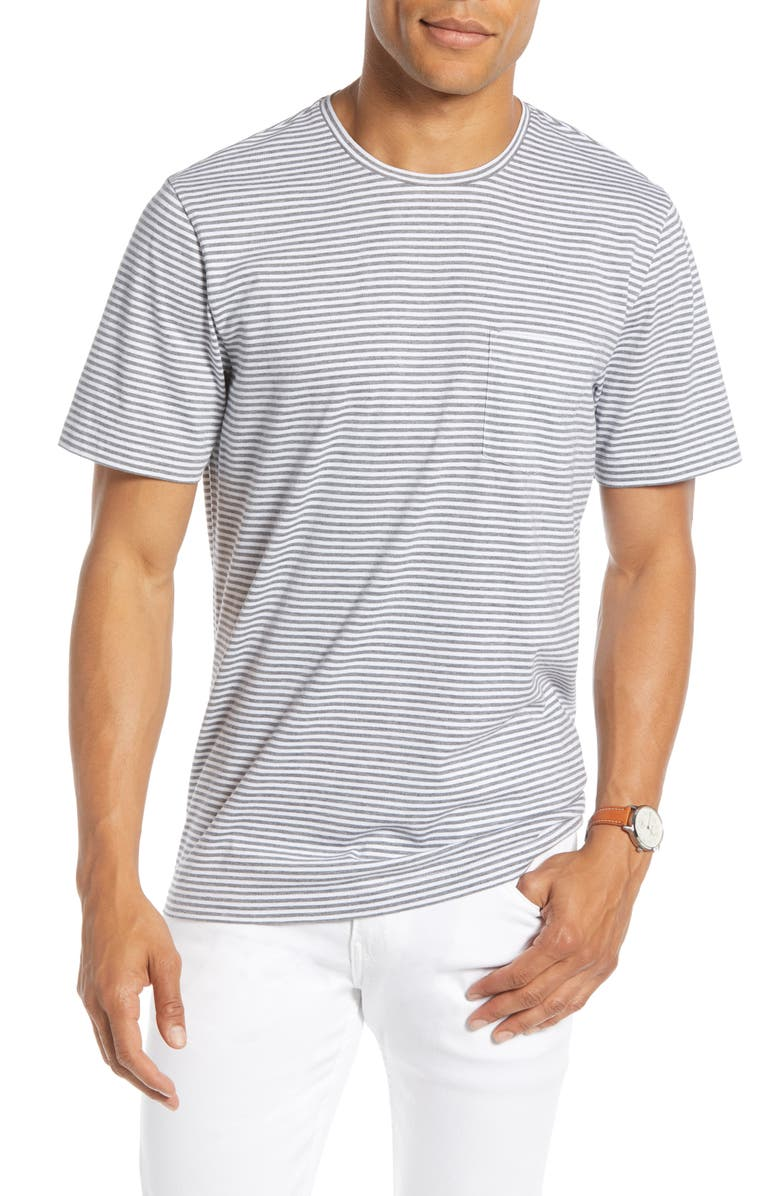 1901 Stripe Pocket Slim Fit T-Shirt, Main, color, 030