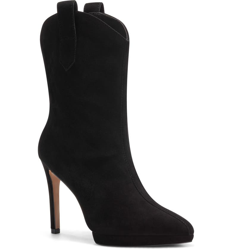 JESSICA SIMPSON Vianne Embellished Pointed Toe Boot, Main, color, SUADE BLACK