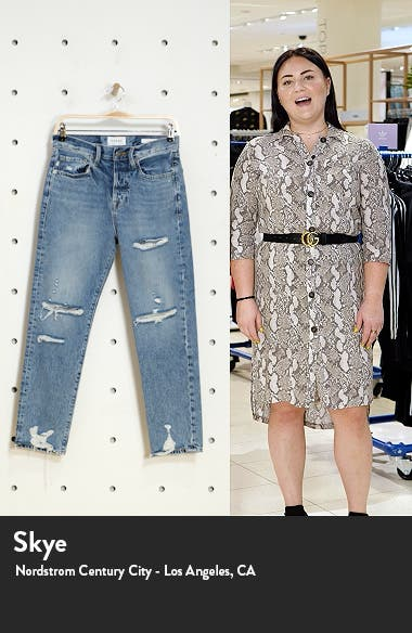 Le Original Ripped High Waist Ankle Boyfriend Jeans, sales video thumbnail