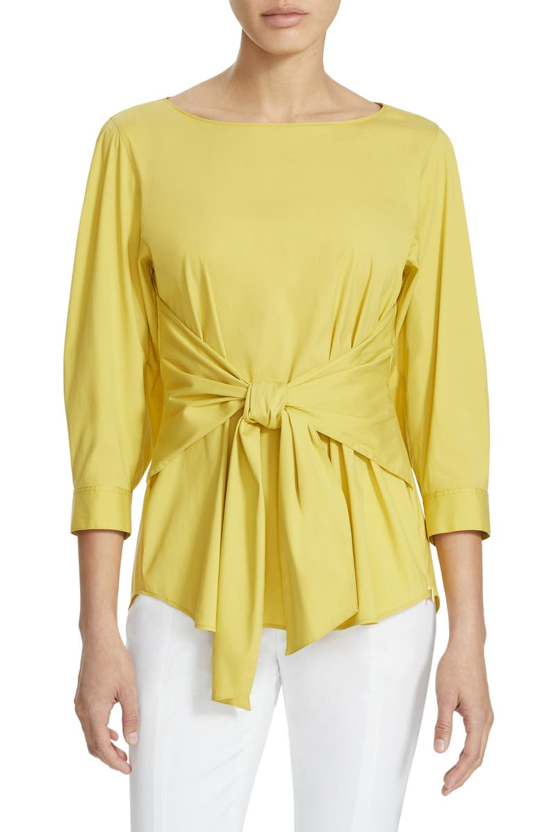 LAFAYETTE 148 NEW YORK Wixton Blouse, Main, color, QUINCE