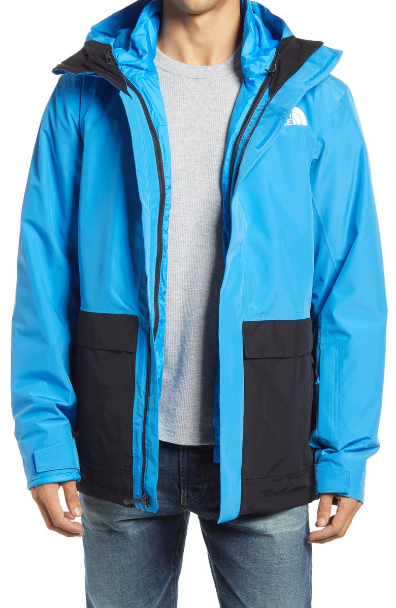 THE NORTH FACE Clement Triclimate<sup>®</sup> 2-in-1 Jacket, Main, color, CLEAR LAKE BLUE/ TNF BLACK
