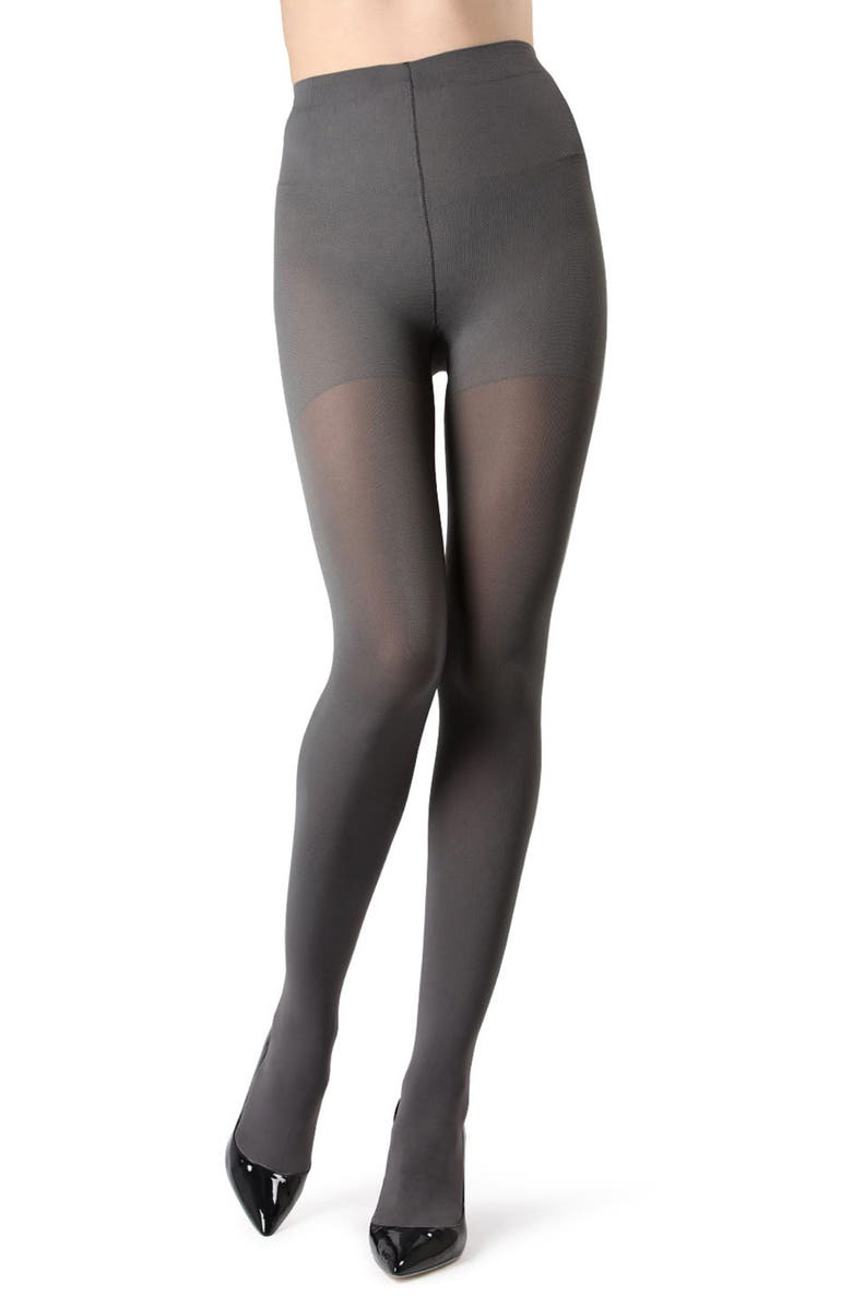 NATORI Perfectly Opaque Tights, Main, color, CHARCOAL