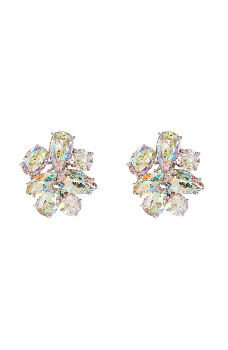 KATE SPADE NEW YORK cz cluster stud earrings, Main, color, PALE TAUPE
