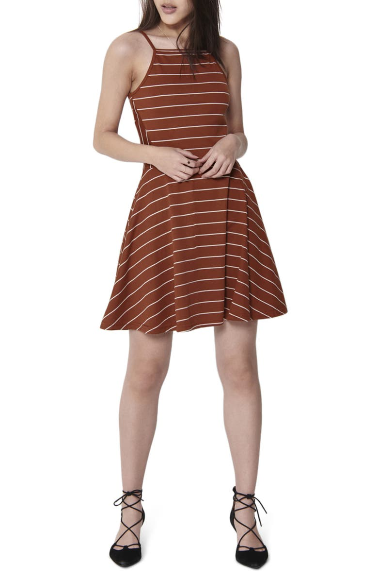 ONLY Loui Fit & Flare Dress, Main, color, BURNT HENNA