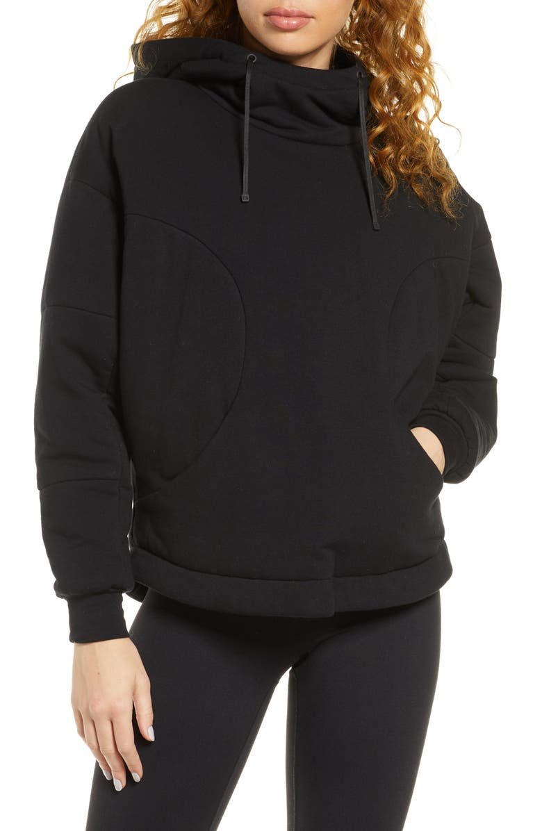 BLANC NOIR Thin Down Hoodie, Main, color, 001